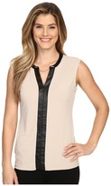 Calvin Klein Sleeveless V-Neck Chain Top