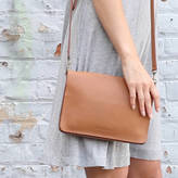 Aura Que Leather Bina Clutch With Detachable Strap