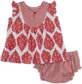 Pink Chicken Addie 2 Piece Set (Baby) - Red Woodblock-3-6 Months