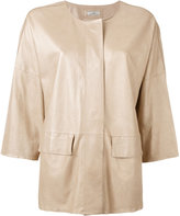 Desa 1972 - high shine jacket - women - Cotton/Leather - 44
