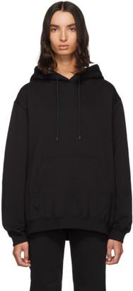 MSGM Black Logo Print Hoodie