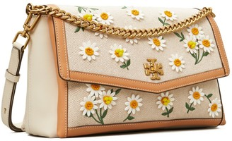 Tory Burch Kira Canvas Applique Shoulder Bag