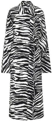Dries Van Noten Zebra-print coat