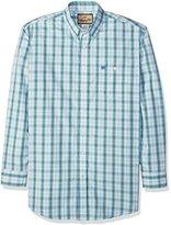Wrangler Men's Big and Tall Western Classic Long Sleeve Woven Shirt