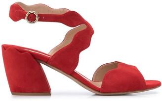 Chloé Scalloped 60mm Sandals