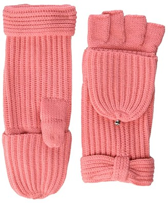 Kate Spade Solid Bow Pop Top Mitten (Chilled Apricot) Gore-Tex Gloves