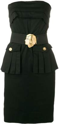 Chanel Pre-Owned 1980's strapless belted short dress