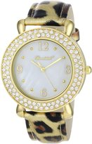 Dakota Bombshell Women's BSS20102G Elegant Goldtone Interchangeable Bezel and Strap Watch Set