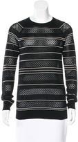 Jason Wu Stripe Silk Sweater