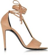Pierre Hardy Blondie Nude Suede High Heel Sandals