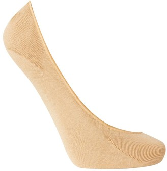 Charnos Hosiery Womens 2 pack Footsie Ballerina Pump Liner size One Size in Nude