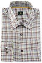 Robert Talbott Plaid Woven Dress Shirt, Brown