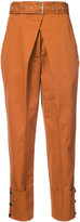 Proenza Schouler belted cropped trousers - women - Cotton - 0