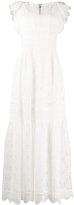 Alberta Ferretti Embroidered Maxi Dress