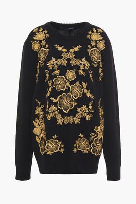 Dolce & Gabbana Metallic Embroidered Cashmere Sweater