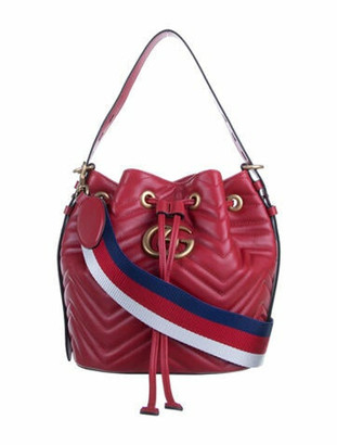 Gucci GG Marmont Matelasse Bucket Bag w/ Tags gold