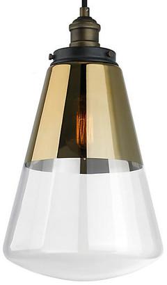 """Feiss 10"""" Carson 1-Light Pendant - Gold"""