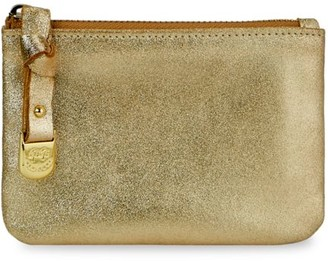 GiGi New York Small Luna Metallic Leather Pouch