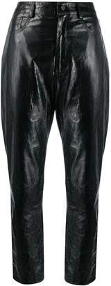 Drome straight leather trousers