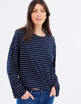 Royal Stripe Long Sleeve Tee