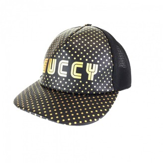 Gucci Black Leather Hats & pull on hats