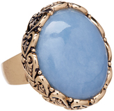 Barse Blue Chalcedony & Bronze Statement Ring