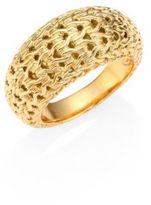 John Hardy Classic Chain 18K Yellow Gold Dome Ring