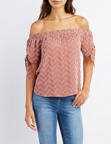 Charlotte Russe Chevron Off-The-Shoulder Top