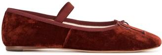 Loeffler Randall Leonie velvet ballerina shoes
