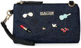 Kenneth Cole Reaction Denim Hashtag Crossbody