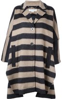 Stella McCartney oversize striped coat - women - Cotton/Polyamide/Viscose/other fibers - 40