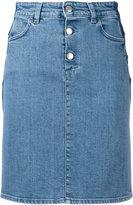 Closed fitted denim skirt - women - Cotton/Spandex/Elastane - 27