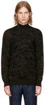 Missoni Green & Black Cable Knit Turtleneck