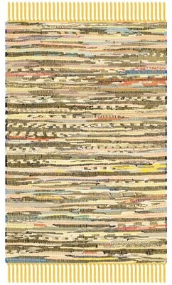 "Beachcrest HomeTM Kellerman Hand-Woven Cotton Multicolor Area Rug Beachcrest Home Rug Size: Runner 2'3"" x 5'"