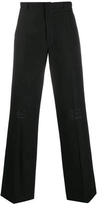 Raf Simons embroidered straight-leg trousers