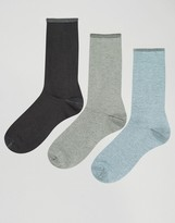 Asos Smart Socks With Roll Top 3 Pack