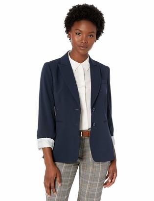 Tahari by Arthur S. Levine Women's Petite Bi-Stretch Jacket with Cuffed Sleeve