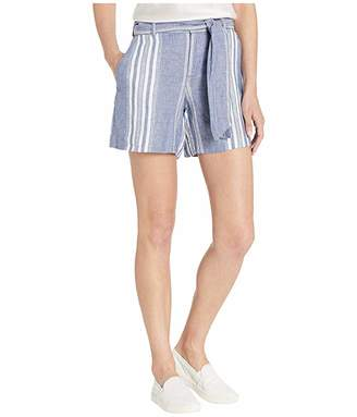 Lauren Ralph Lauren Striped Linen Belted Shorts