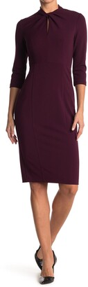 Donna Morgan Keyhole Crepe Sheath Dress