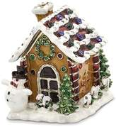 Jere Collections Bejeweled Pewter Gingerbread House Trinket Box