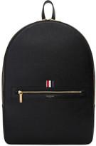 Thom Browne Black Leather Backpack