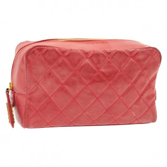 Chanel Red Patent leather Travel bags