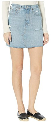 Levi's(r) Womens High-Rise Decon Iconic Skirt (Rack and Ruin) Women's Skirt
