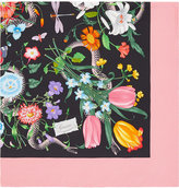 Gucci Flora Snake print scarf - women - Silk - One Size