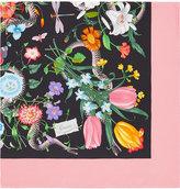 Gucci Flora Snake print scarf