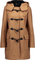 Belstaff Thorne leather-trimmed wool-blend hooded coat