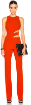 Thierry Mugler Bonded Crepe Jumpsuit