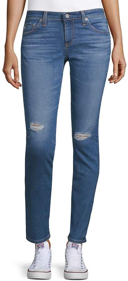 AG Adriano Goldschmied Women's Skinny Rip Jeans - 17 Years Bluejay, Size 30 (8-10)