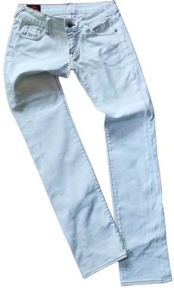 Evisu White Cotton - elasthane Jeans for Women