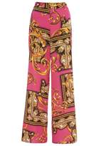 Quiz Pink And Gold Scarf Palazzo Trousers